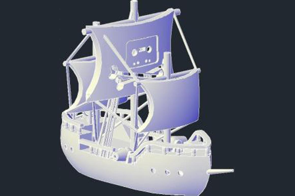 """The Pirate Bay's """"Physibles"""" category enables the sharing of 3D printable objects such as this printable 3D Pirate Bay logo by tblatt"""