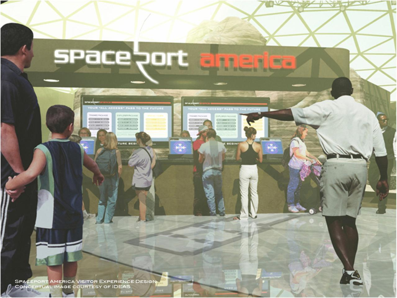 Artist's concept of functional space flight terminal (Image: Spaceport America)