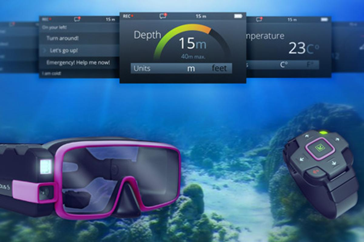 Scubus S - scuba mask with integrated camera, HUD and communications