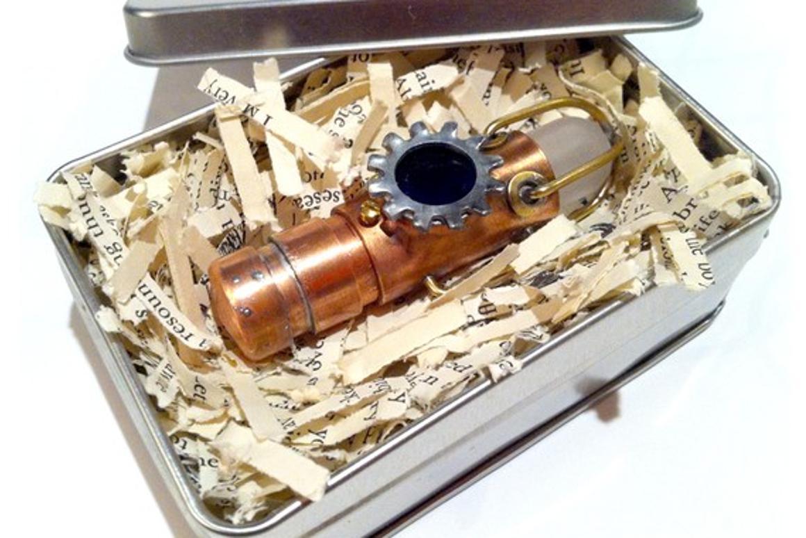 One of Jumpei Funaki's steampunk flash drives