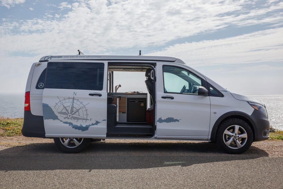 ADF transforms the Mercedes-Benz Metris passenger van into the Anacapa camper van