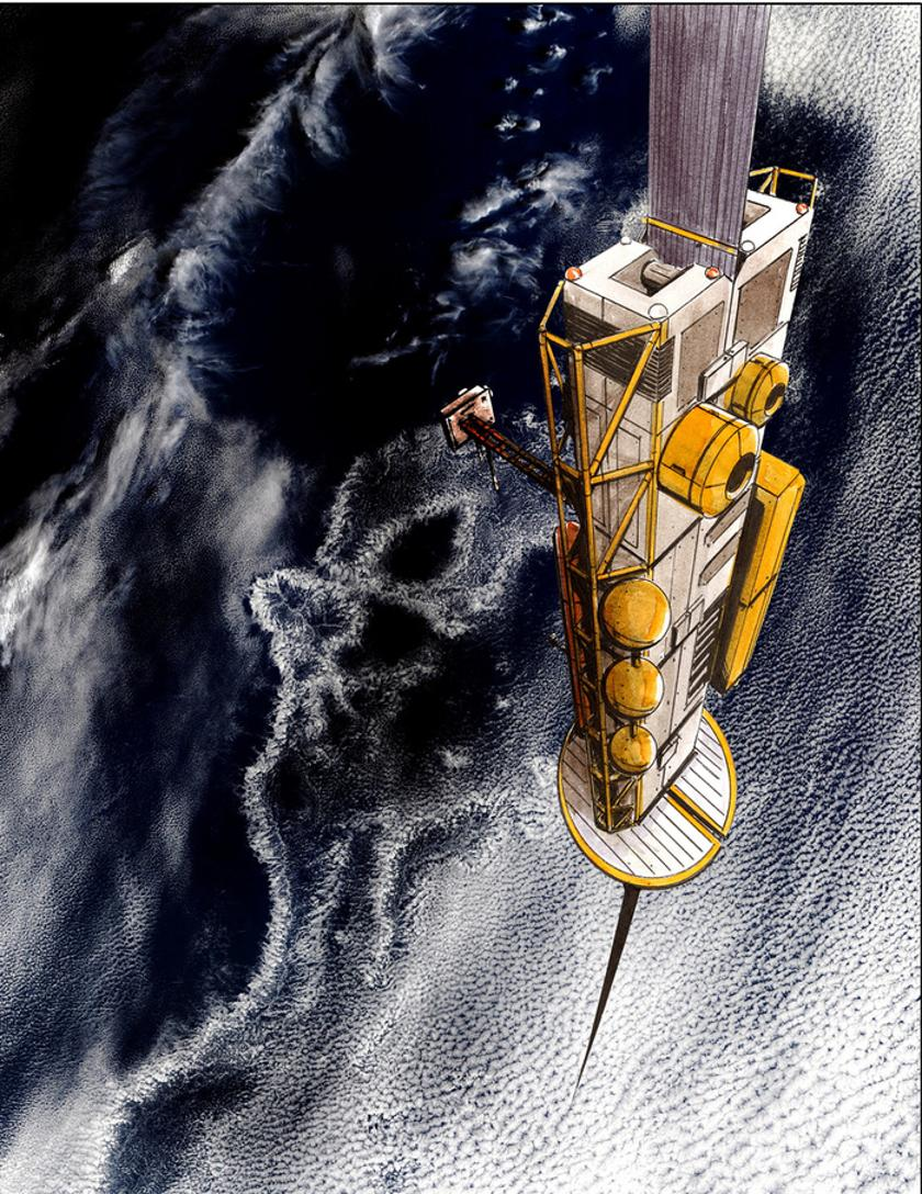 Artist's concept of a space elevator climber (Image: LiftPort)