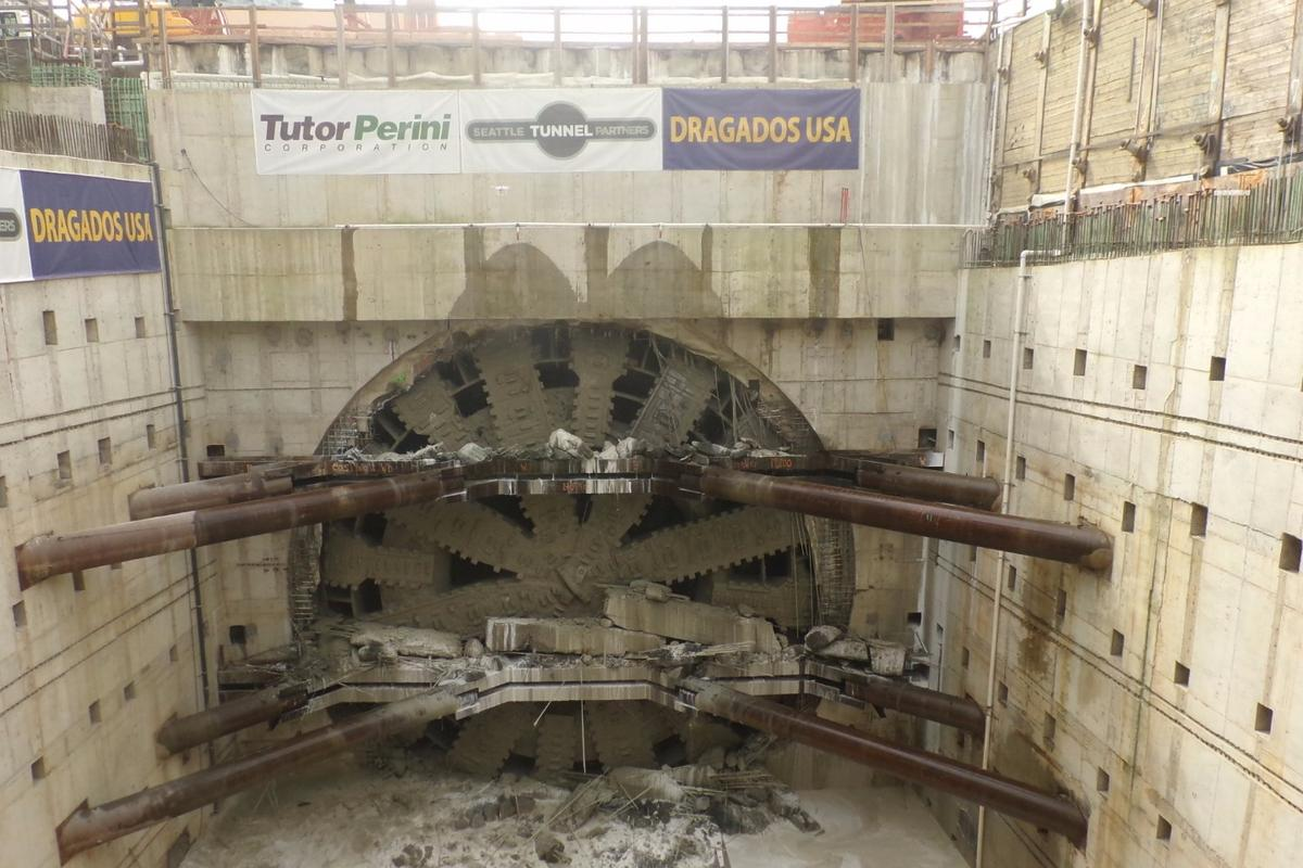 Bertha took four years to complete the tunnel