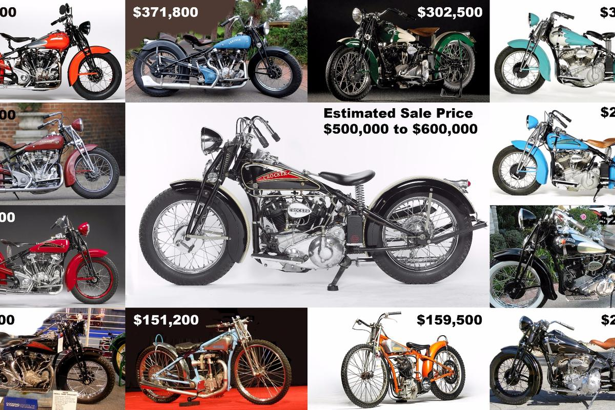 """If it sells, this 1936 Crocker """"hemi head"""" will become just the fourth motorcycle and the first Crockerto sell at auction for more than $500,000"""