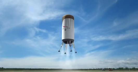 SpaceX Reusable Launch Vehicle - stage 2 landing on the launch pad