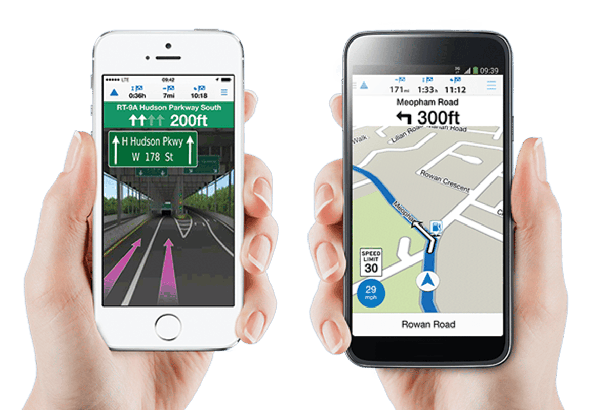The Viago app offers the basic features of a typical navigation app, but can be customized through a selection of premium add-ons