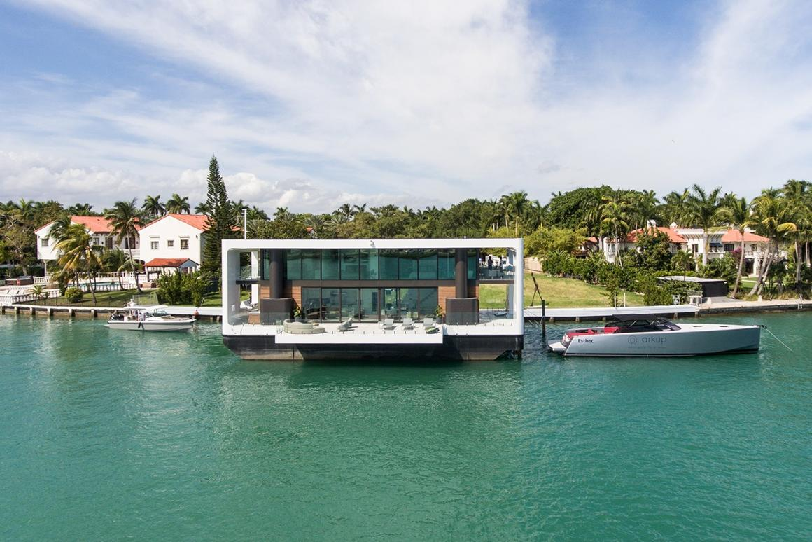 The Arkup #1, a luxury floating home that can raise itself on hydraulic stilts, is one of our favorite houses of 2019