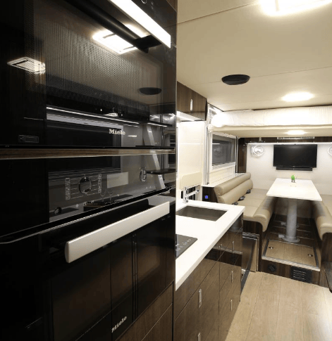 Most motorhomes we've seen come without a microwave or oven, but this one has both
