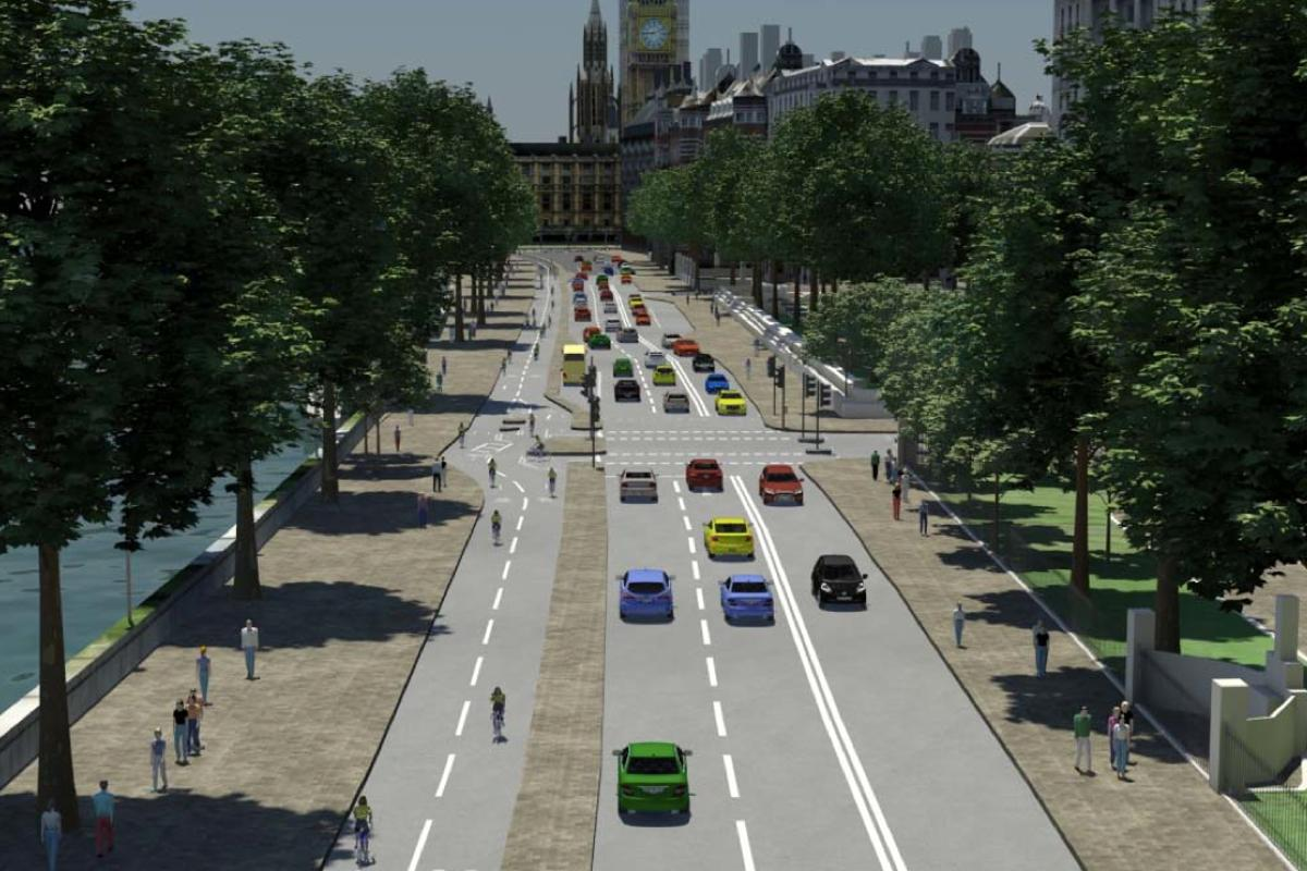 How London's Victoria Embankment might look under the new scheme