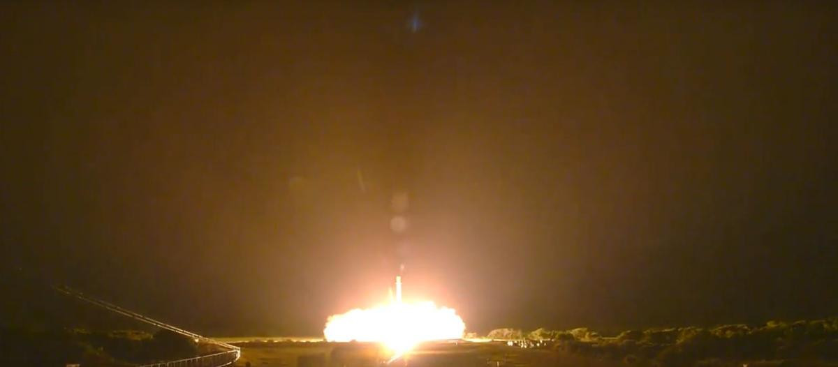 Falcon 9 touching down