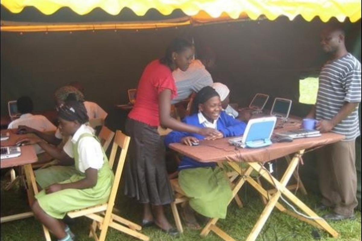 The Mobile Solar Computer Classroom provides students with computer skills that will give them a more promising future