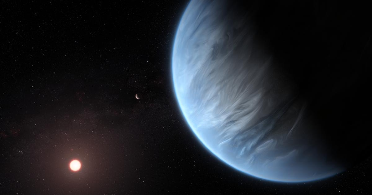 Analysis of Super-Earth atmosphere reveals potentially-habitable world