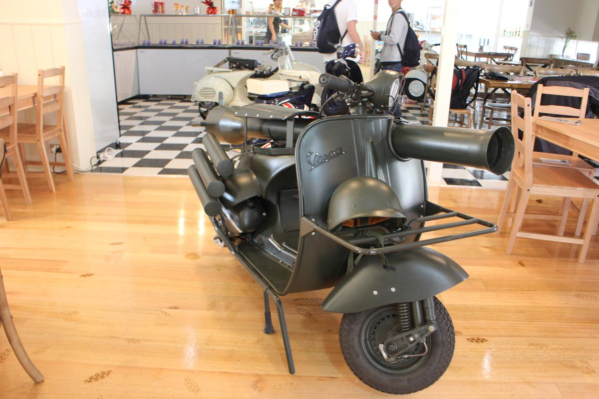 Vespa's 150 TAP had a top speed of 40 mph