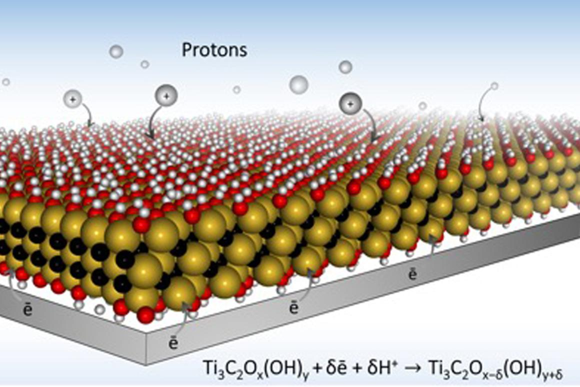 An electrode made of the 2D material MXene could lead to batteries that charge in a matter of seconds