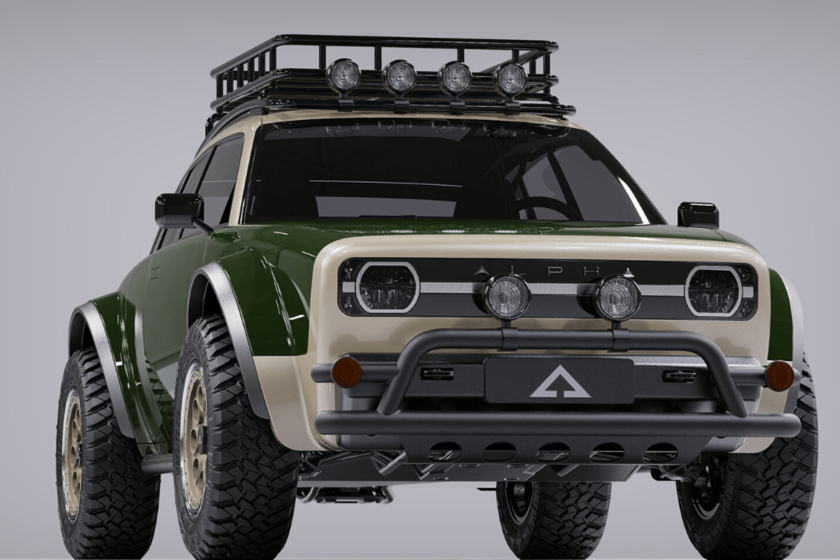 With its cargo basket, auxiliary lights and bull bar, the Alpha JAX clearly has different intentions than its siblings
