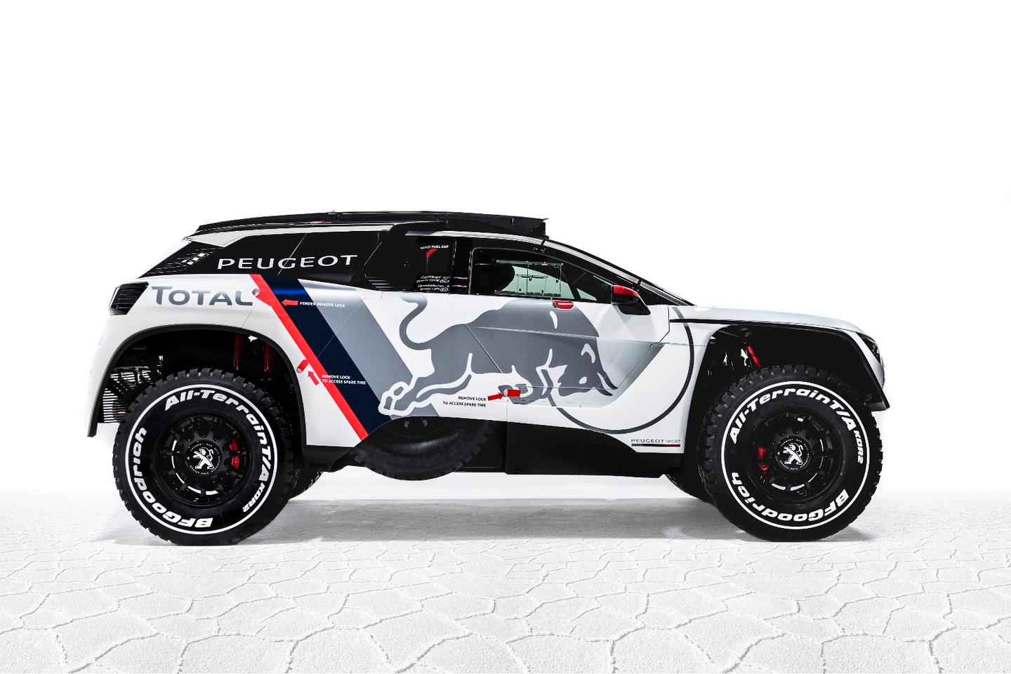 Peugeot Total will give the 3008 DKR its first official competitive test next month