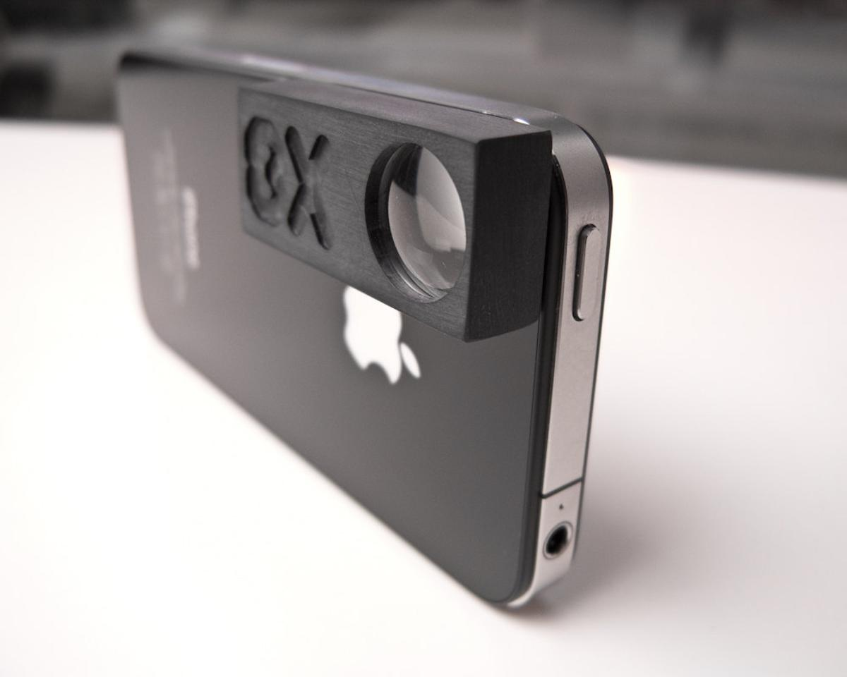 Chris Ferguson's 8x macro lens for iPhone sticks directly to the phone