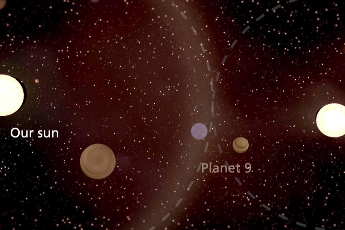 Artist's impression of Planet 9 being captured from a passing star