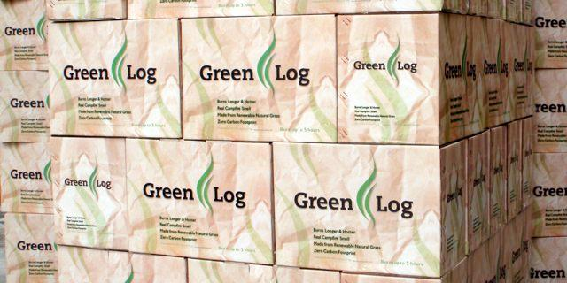 Green Logs are fireplace logs made from compressed Giant King Grass, and are said to have a very low carbon footprint