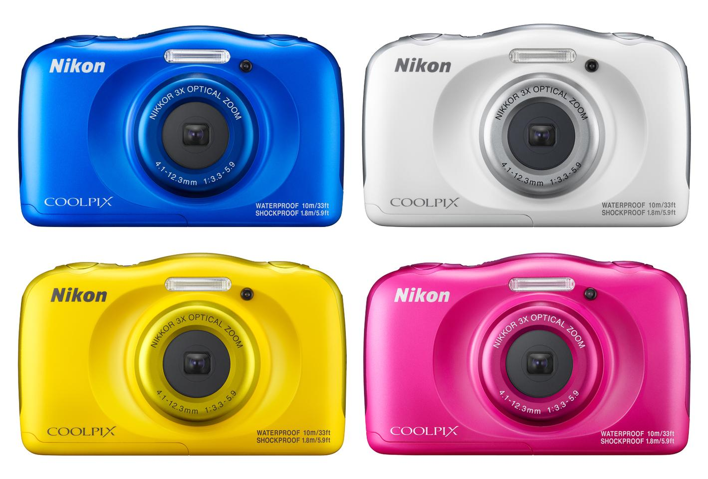 The Nikon Coolpix W100 will come in a number of bold colors