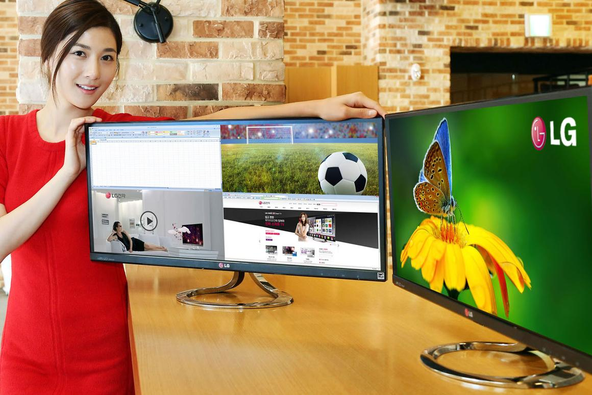 LG will introduce the world's first 21:9 aspect computer monitor in Korea later this month