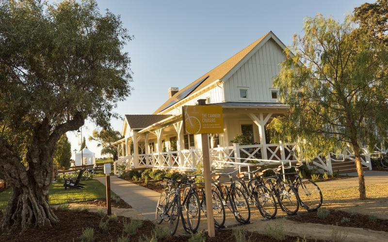 The Cannery has a 10 mi (16 km) network of bike trails, as well as a network of walking paths for people to get around