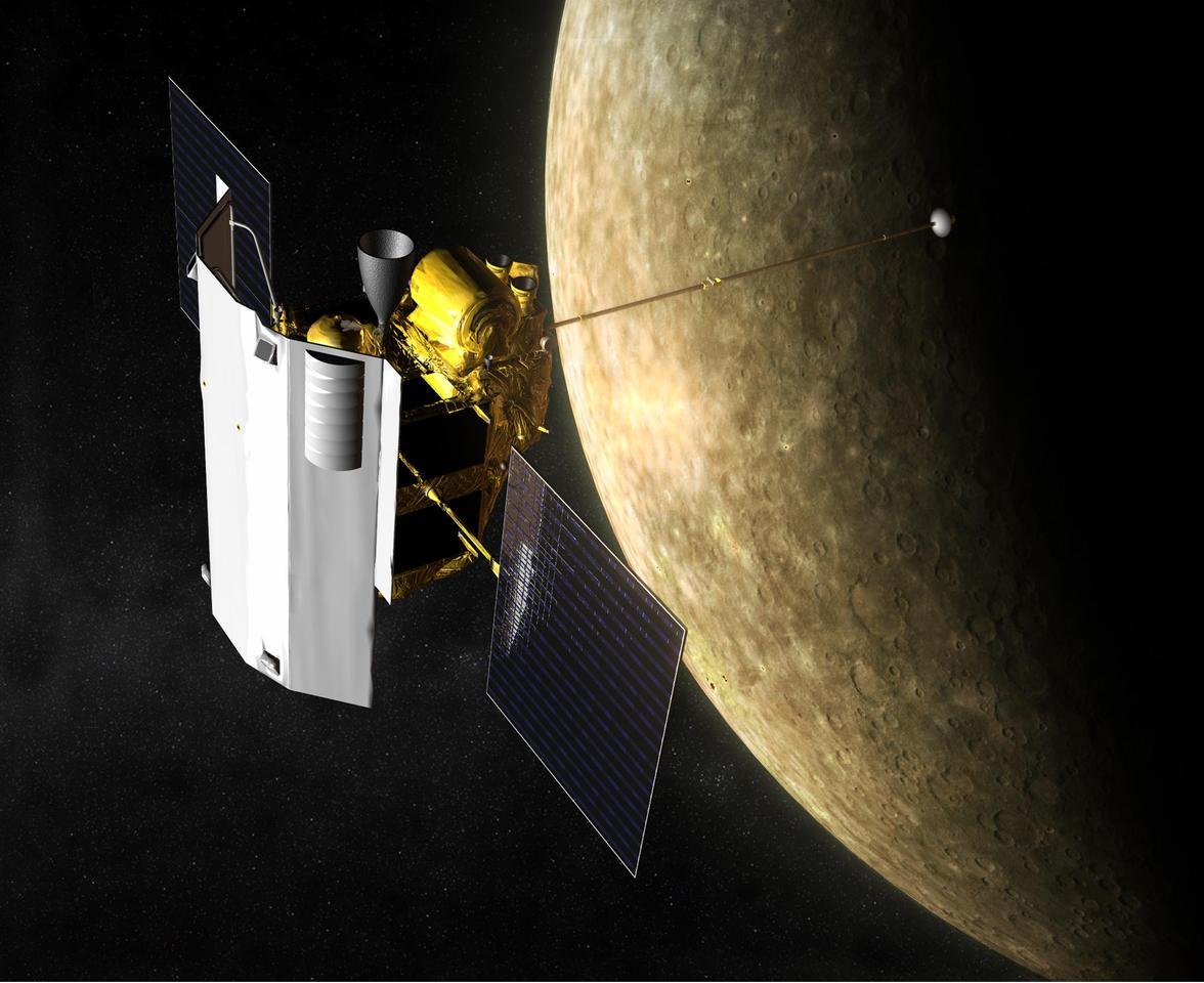 Artist's concept of the MESSENGER orbiter (Image: NASA)