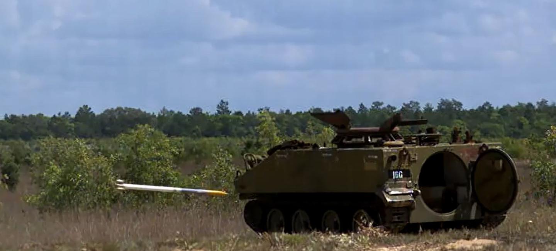 APKWS-equipped rocket closing on target