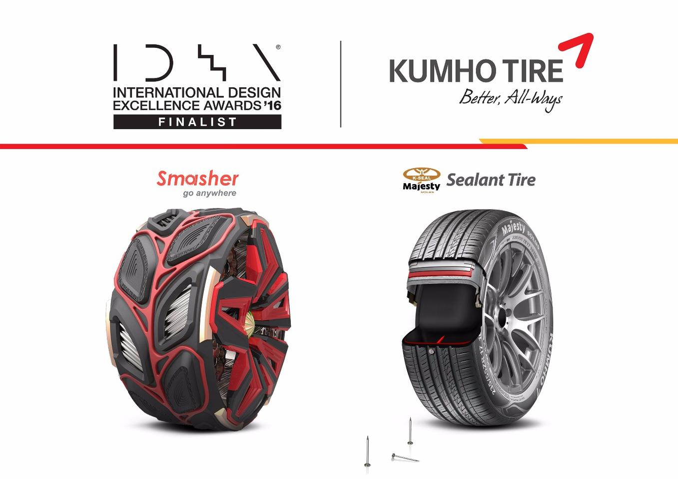 The two Kumho tire concepts have taken out numerous awards