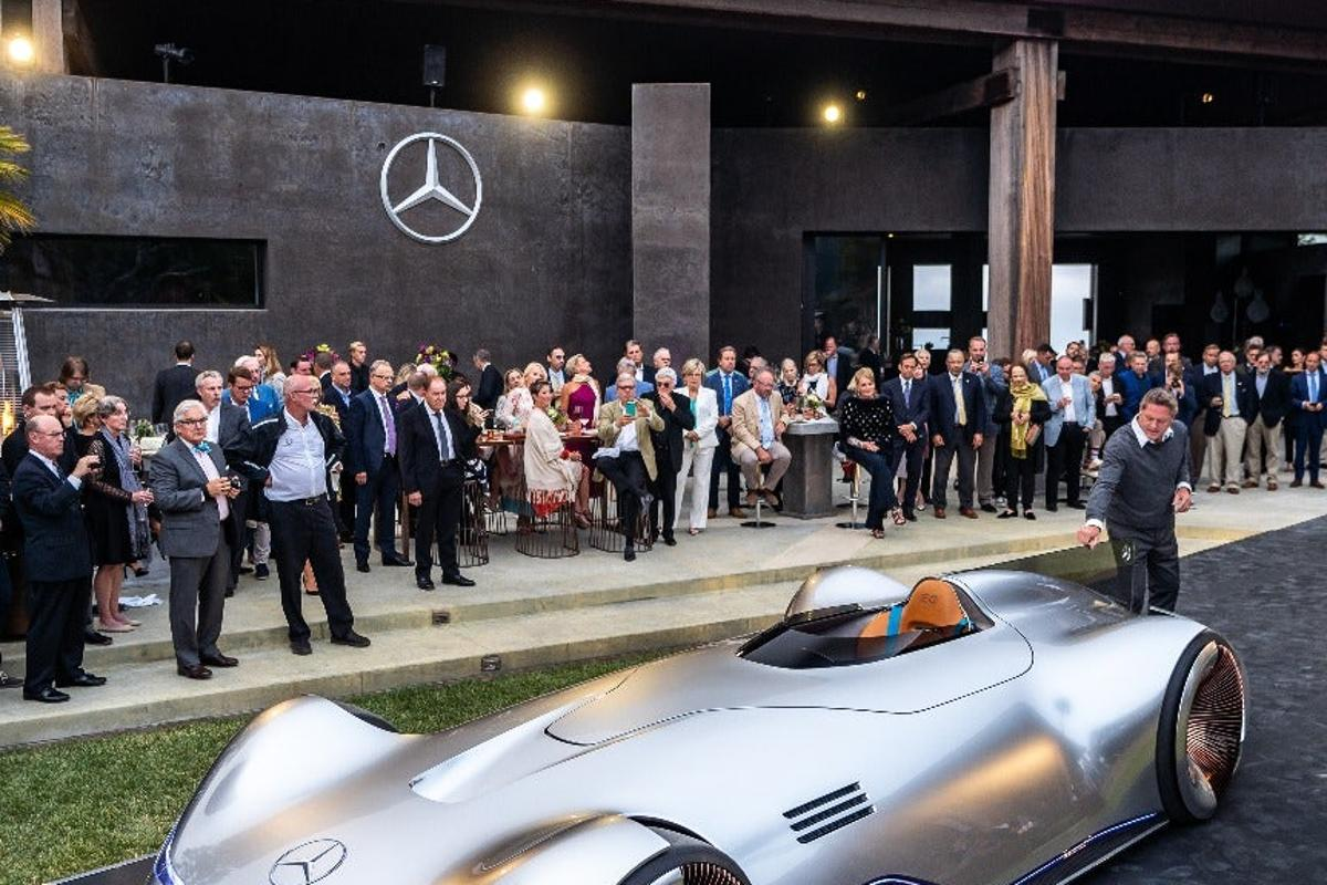 Mercedes debuted the radical Vision EQ Silver Arrow at Monterey Car Week 2018