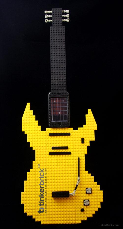 The TinkerBrick case can transform an iPod Touch or iPhone into a full-sized touchscreen guitar