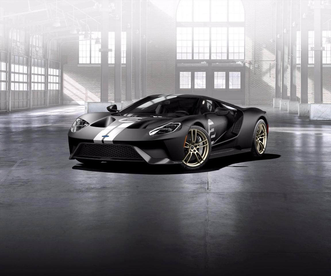 The GT '66 Heritage Edition gets a combination of shadow black paint and gray stripes