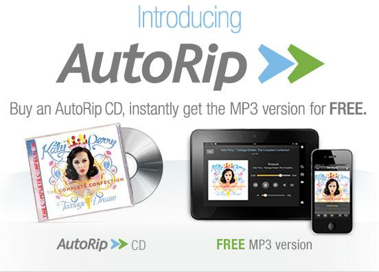 Amazon has launched a new service where customers who buy an AutoRip eligible CD will get an free MP3 version for free