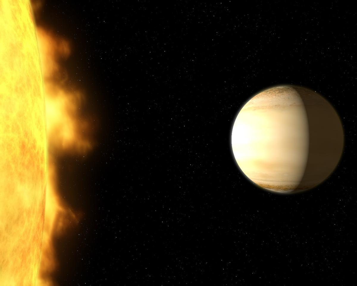 WASP-39b –a hot, bloated, Saturn-mass exoplanet located about 700 light-years from Earth