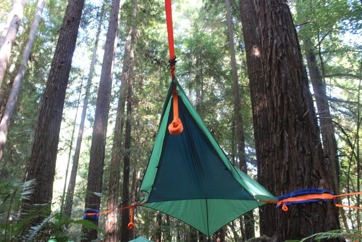 The flat floor is quite comfortable to sleep on – enough give to provide that feeling of weightlessness but without contorting you into a banana, like a traditional hammock would