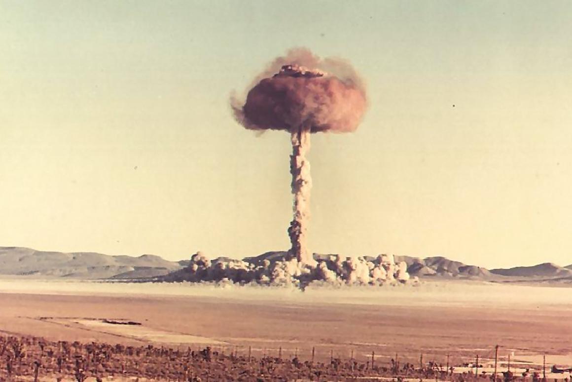 US Atomic Energy Commission 14 kT Bunker Charlie test - October 30, 1951 (Photo: USAEC)