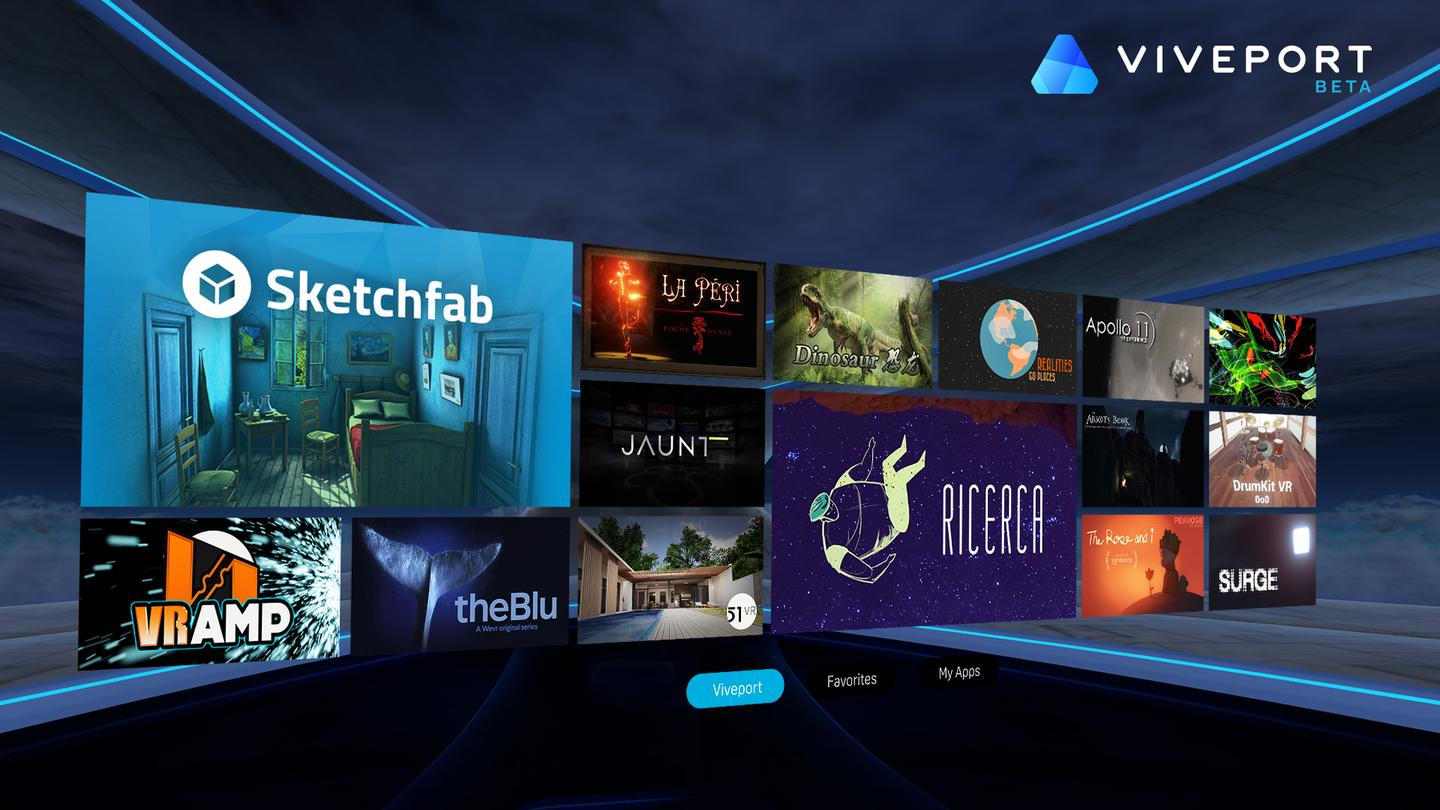 Sample of the Viveport experience