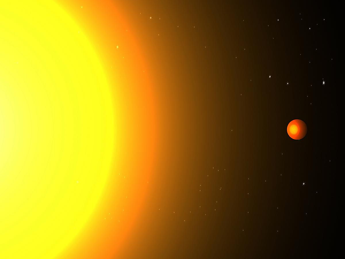 Kepler 78b has a year 8.5 hours long and orbits its sun at a distance only three times the star's radius (Image: Cristina Sanchis Ojeda)