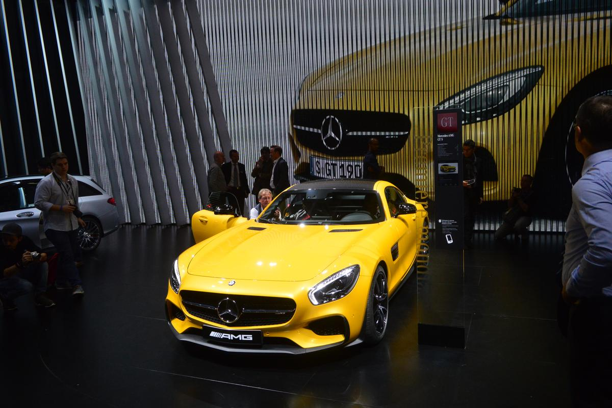 The 2016 AMG GT S at the Paris Motor Show (Photo: C.C. Weiss/Gizmag)