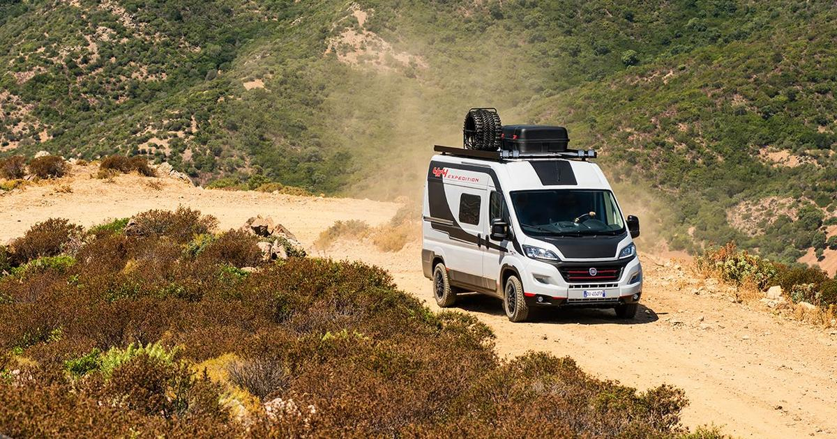 Fiat gives camper vans more grip with the all-new Ducato 4x4