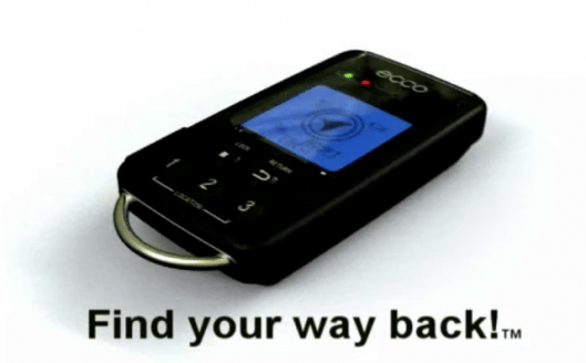The ECCO keyring GPS locator will help you find your way home, wherever in the world you might be
