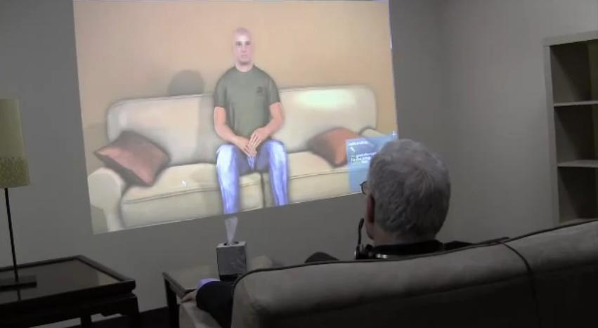"""A """"virtual patient"""" technology being developed at USC could help U.S. Army psychologists and psychiatrists to treat their patients more effectively (Image: Albert Rizzo/USC)"""