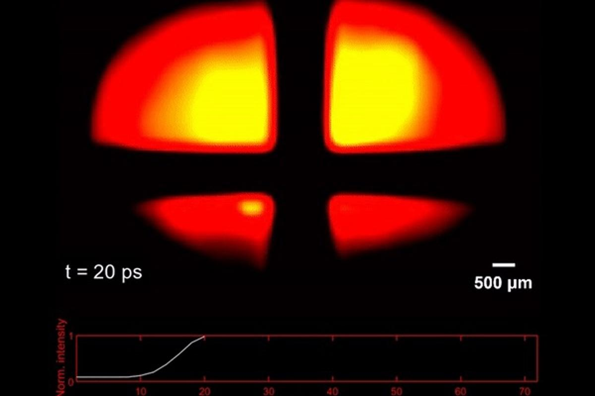 An image of a photon captured by the UV-CUP camera