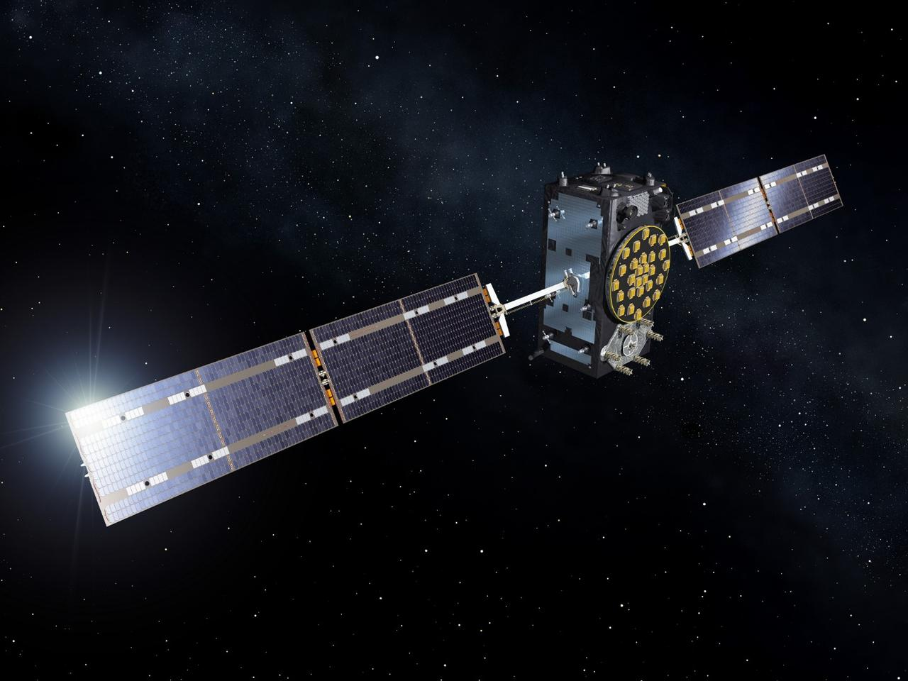 Artist's concept of a Galileo satellite
