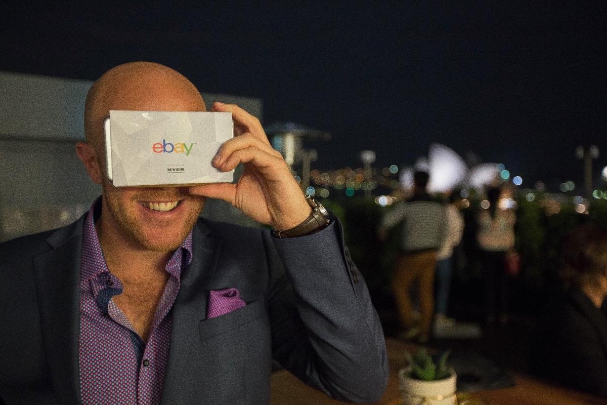eBay has teamed up with Australian retailer Myer to let customers shop via a virtual reality store