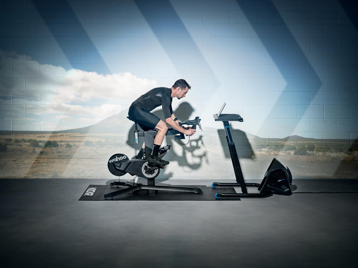 The Kickr Bike is able to replicate the geometry – and the gearing – of the user's existing bicycle