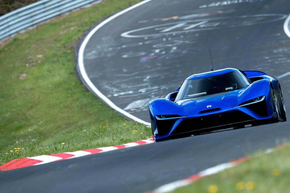 The NIO EP9 lapped the Nurburgring Nordschleife in 6:45.900. Unofficially.