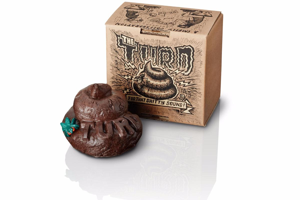 Possibly the strangest guitar effects pedal we've ever seen: the Turd from Dr No Effects