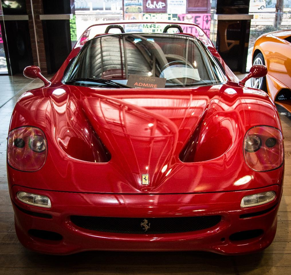 The F50's paint is so thin, you can see the weave of the carbon fiber underneath