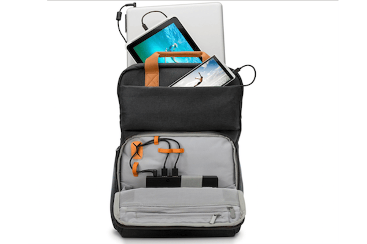 HP's Powerup Backpack charges smartphones, tablets and laptops
